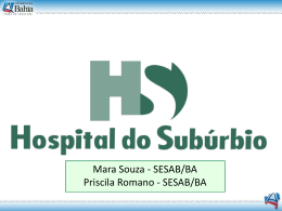 Hospital do Subúrbio - Sefaz BA