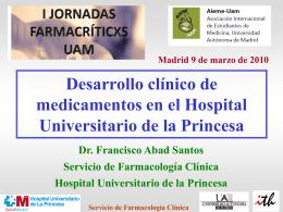 Servicio de Farmacología Clínica Desarrollo clínico