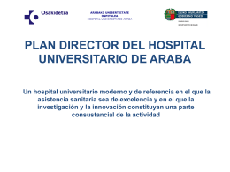 Plan Director del Hospital Universitario Álaba