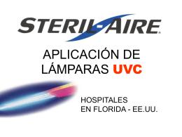 Aplicaciones UVC en Hospitales de Florida (EE.UU) - Steril