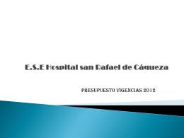 E.S.E Hospital san Rafael de Cáqueza