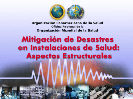 Mitigación de Desastres en Instalaciones de Salud