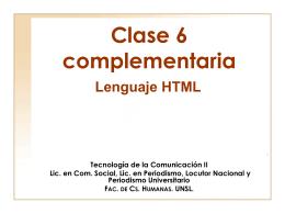 lenguaje html - Página de Tecnología de la Comunicación