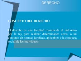 DERECHO Marco Conceptual