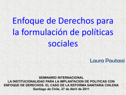 Enfoque de Derechos para la Formulación de Políticas Sociales