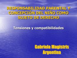 Responsabilidad parental y concepción del niño como sujeto de