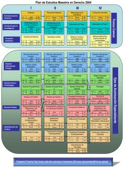 Plan de Estudios Maestría en Derecho 2004