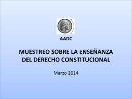 muestreo sobre la enseñanza del derecho constitucional