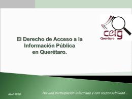 Los Servidores Públicos y el Derecho de Acceso a la