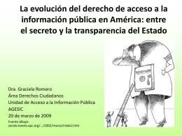 la evolución del derecho de acceso a la información pública en