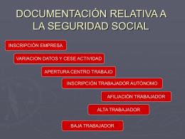 Documentación relativa a la Seguridad Social. Enviado