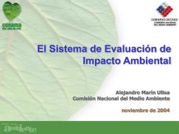 Presentación SEIA Canadá - Ministerio del Medio Ambiente