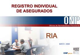 Registro individual de asegurados