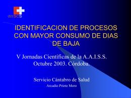 identificación de procesos con mayor consumo de dias de