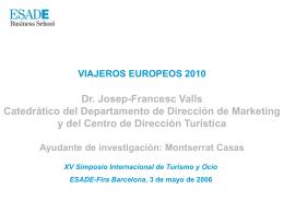 Viajeros europeos 2010
