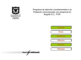 La presentación del Dr. Darío Villamizar