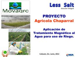 Proyecto Agrícola Chaparral (Culiacán, México)