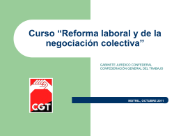 """Curso """"Reformas laborales y de la negociación colectiva"""""""
