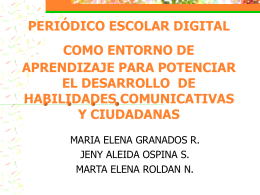Periódico escolar digital como entorno de