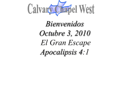 1 (NASB) - Calvary Chapel West