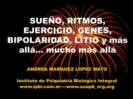 Diapositiva 1 - Instituto de Psiquiatría Biológica Integral