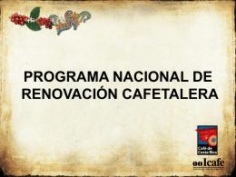 Programa de Renovación de Cafetales