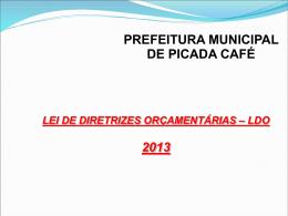 Audiência LDO 2013 - Prefeitura de Picada Café