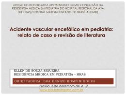 Acidente vascular encefálico em pediatria