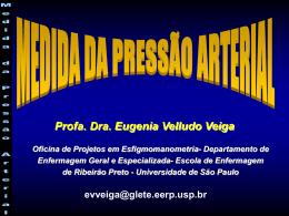 medida da pressão arterial - Escola de Enfermagem de Ribeirão Preto