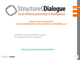 Structured Dialogue 2010