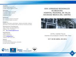 xxiv jornadas regionales de medicina hospital regional