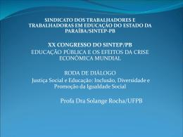 Justiça Social e Educação - SINTEP-PB