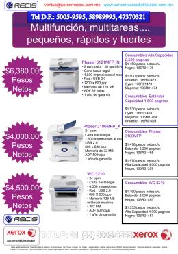 Presentación de PowerPoint - Xerox México Distribuidor