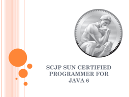 scjp sun certified programmer for java 6 semana tres - clic