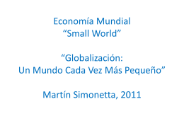 Economía Mundial Small World