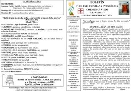 11 Agosto 2013 - Iglesia Cristiana Evangélica de Colmenar Viejo