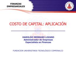 Finanzas Empresariales - Tecnológico Comfenalco