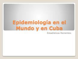 Epidemiología I