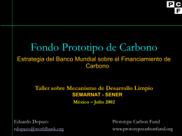 Inversores del PCF - Carbon Finance at the World Bank