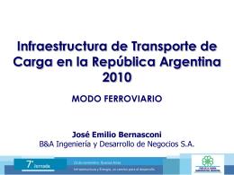 Red Ferroviaria Argentina - Foro de la Cadena Agroindustrial