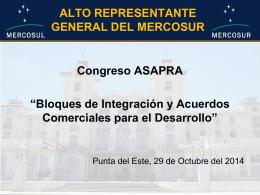 Bloques de Integracion y acuerdos regionales para el Desarrollo del