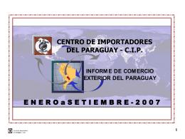 Descargar informe de Comercio Exterior del Paraguay