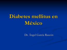Epidemiología de la diabetes mellitus en México