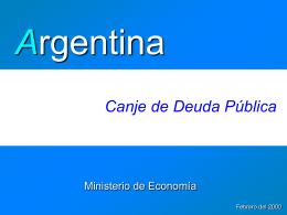 Bontes - Ministerio de Economía