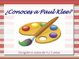 ¿Conoces a Paul Klee?