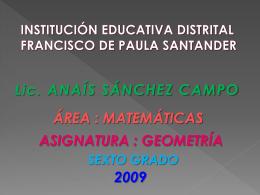 PLAN DE AULA - ANAÍS