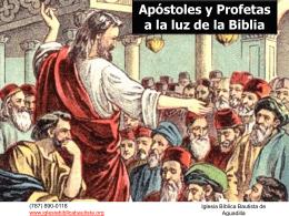 Apóstoles y Profetas a la Luz de la Biblia