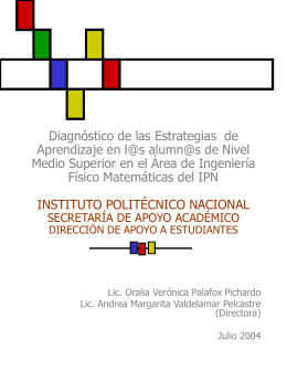 DIAGNÓSTICO - Tutorias - Instituto Politécnico Nacional