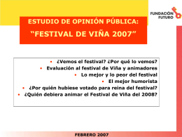 FESTIVAL DE VIÑA 2007