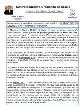 117 EL REINO DE LOS CIELOS